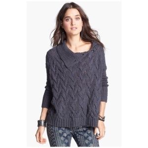 Free People Berkeley Cable poncho sweater